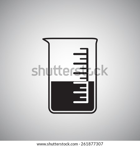 Chemical tube. Icon. Vector illustration 5 - stock vector