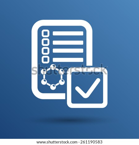 Chemical tubes vector icon test experiment apparatus pharmacist. - stock vector