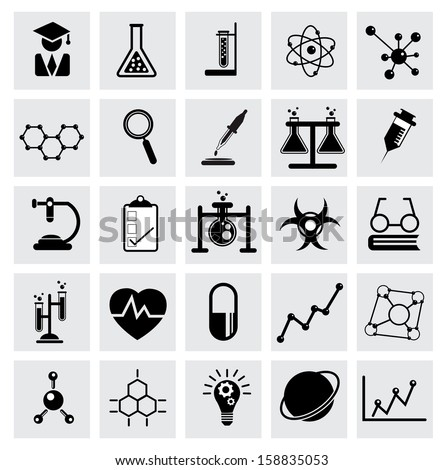 Chemistry and science vector icon - stock vector