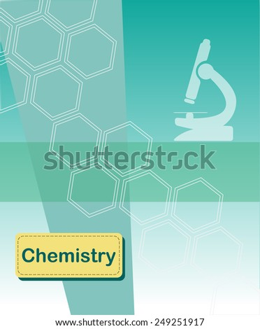 Chemistry concept vector background  - stock vector