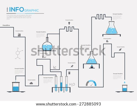 Chemistry infographic vector illustration - stock vector