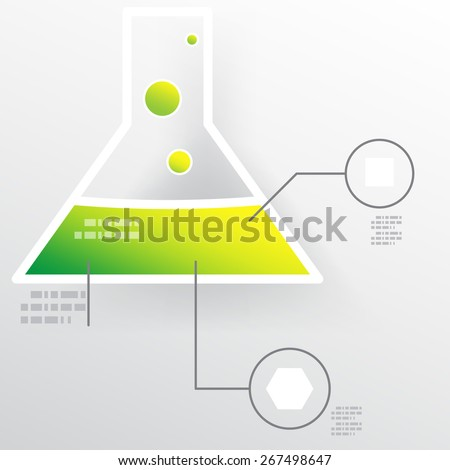 Chemistry science lab tube vector illustration. - stock vector