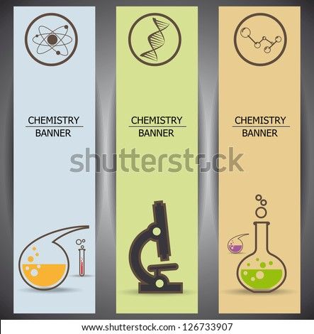 chemistry web banners - stock vector