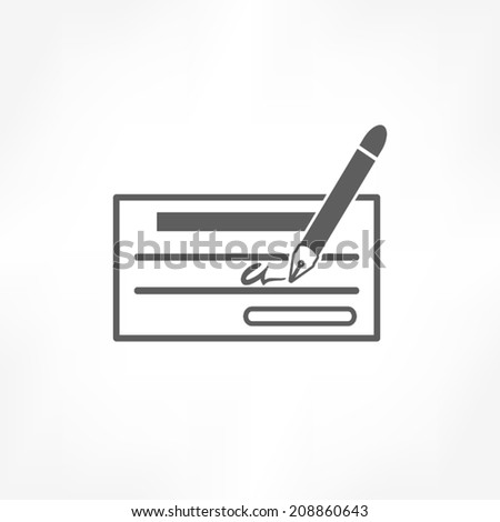 cheque icon - stock vector