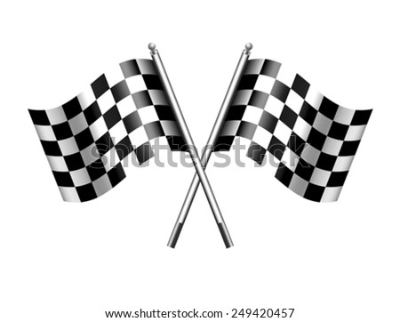 Chequered, Checkered Flags Motor Racing - stock vector