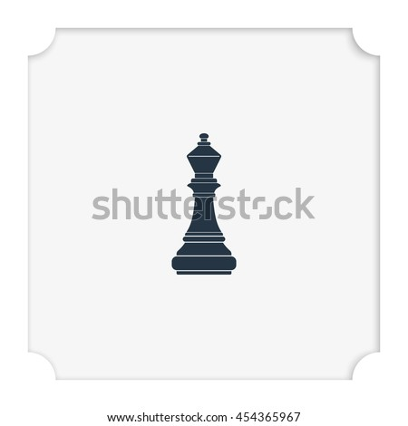 Chess bishop icon. - stock vector