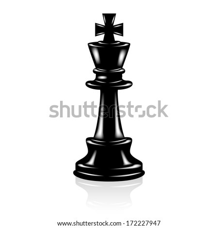 Chess black king  - stock vector