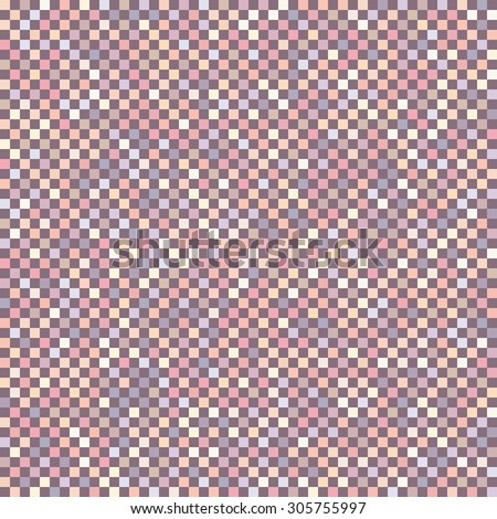 Chess board mosaic squares distortion vector background. Checkered background. Checker seamless wallpaper patterns. - stock vector