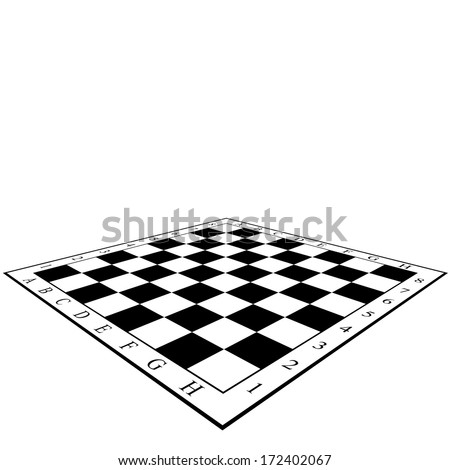 Chess Board. Vector illustration. - stock vector