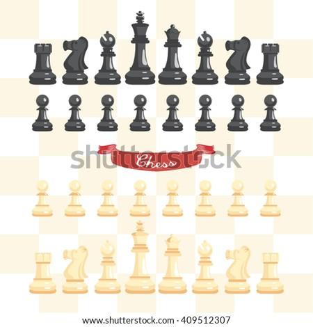 Chess Game Vector Design - stock vector