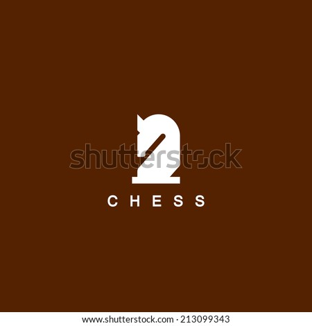 Chess. Horse symbol - stock vector