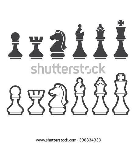 chess icon - stock vector
