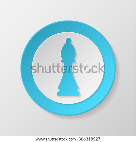 Chess icon. Bishop concave icon. - stock vector