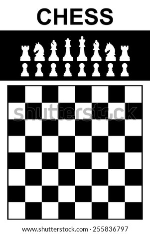 Chess icon. Set of Chess with Chessboard Vector Illustration eps10 - stock vector