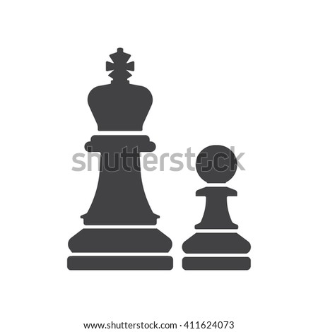 Chess icon Vector Illustration on the white background. - stock vector