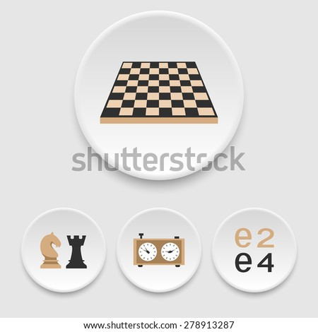 Chess icons - stock vector