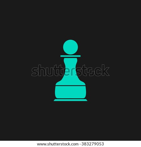 Chess Pawn. Flat simple modern illustration pictogram. Collection concept symbol for infographic project and logo - stock vector