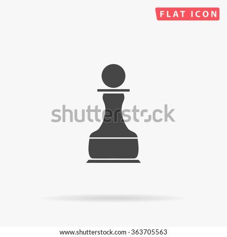 Chess Pawn Icon Vector.  - stock vector