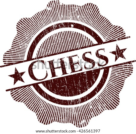 Chess rubber stamp - stock vector