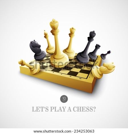 Chess. Vector illustration - stock vector