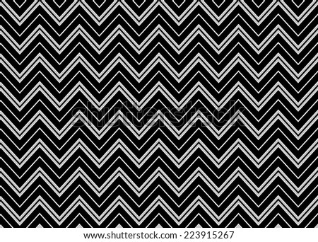 Chevron Seamless Pattern in Black and White Vector Illustration - stock vector
