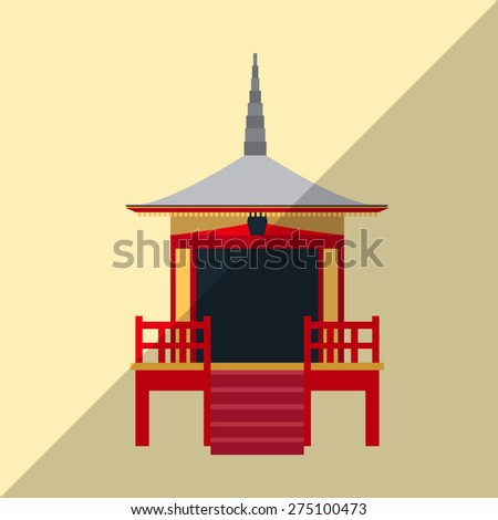 Chiana town icon great for any use. Vector EPS10. - stock vector