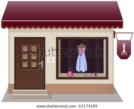 Chic  tailor store icon. Separately grouped. Easy edition. - stock vector
