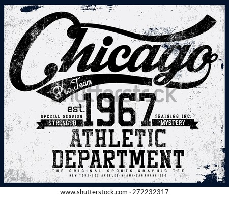 chicago tee graphic - stock vector