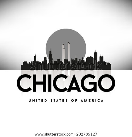 Chicago United States of America skyline, vector illustration. - stock vector