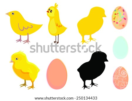 Chicken and egg - stock vector