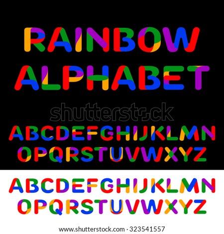 Child alphabet colorful. Vector illustration  - stock vector