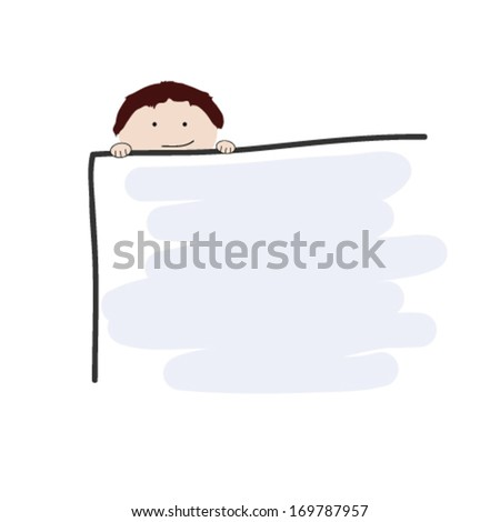 child and school table vector illustration - stock vector