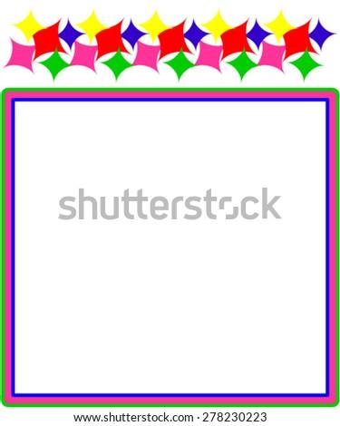 Child frame. - stock vector
