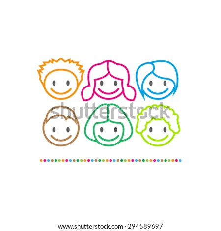 Child Logo Design - stock vector