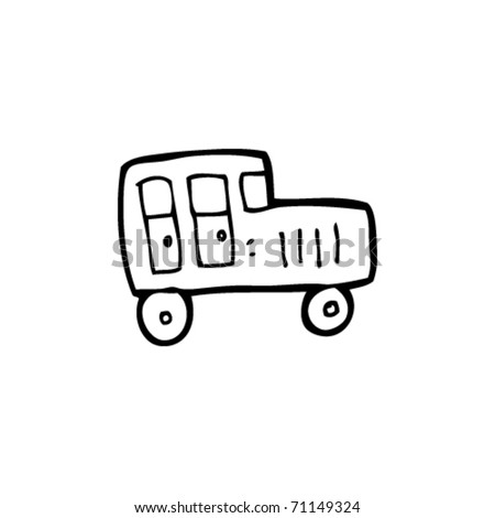 child's drawing of a car - stock vector