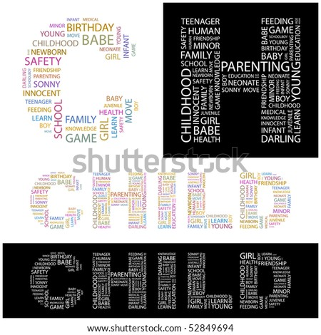 CHILD. Word collage. Vector illustration. - stock vector