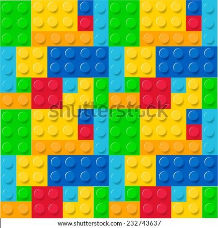 Childhood blocks pattern vector - stock vector