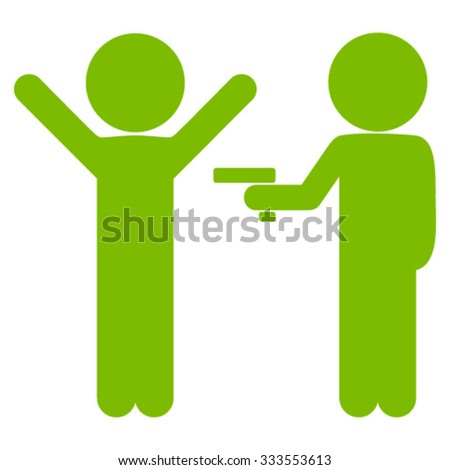 Children Crime vector icon. Style is flat symbol, eco green color, rounded angles, white background. - stock vector