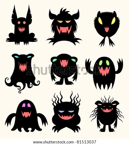 Children of the night - stock vector