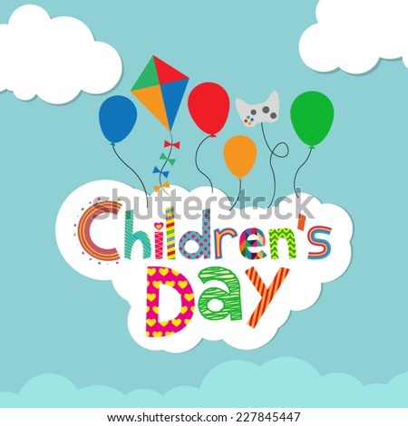 children's day background - stock vector