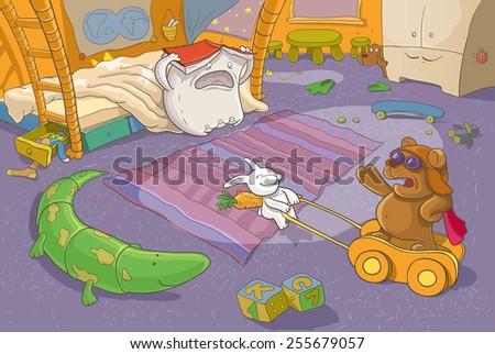 Children's Illustration. Fantasy. - stock vector
