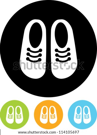 Children's shoes - Vector icon isolated - stock vector