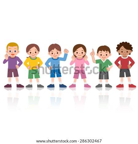 Children smile to align - stock vector