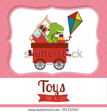 children toys design  - stock vector