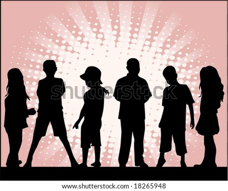 Children ,vectors work - stock vector
