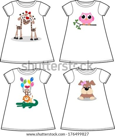 children wear fashion industry - stock vector