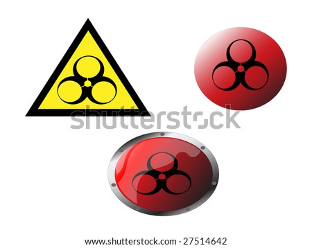 chimical buttens - stock vector