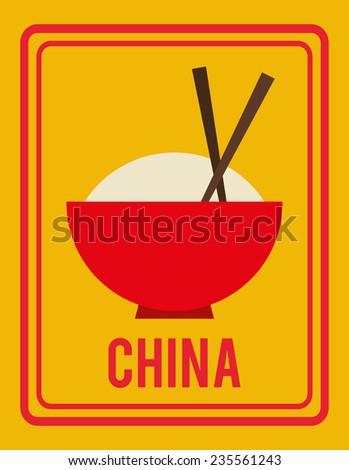 china design, vector illustration - stock vector