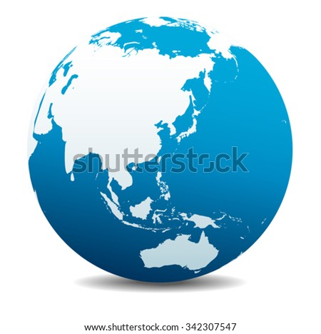 China, Japan, Malaysia, Thailand, Indonesia, Global World - stock vector