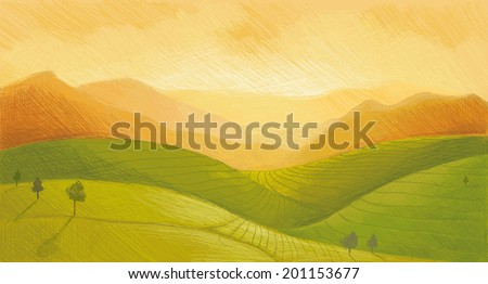 China Landscape - stock vector